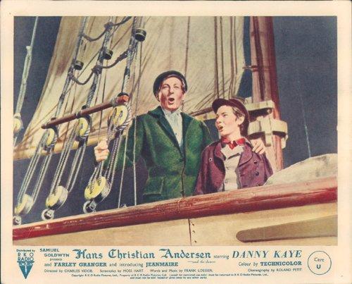 HANS CHRISTIAN ANDERSEN DANNY KAYE ORIGINAL LOBBY CARD JOSEPH WALSH Silverscreen
