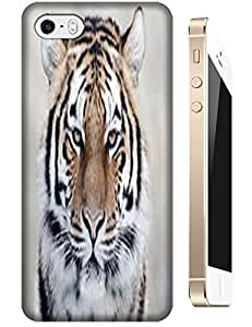Tiger Case Cover Hard Back Cases Beautiful Nice Cute Animal hot selling cell phone cases for Apple Accessories iPhone 4/4S # 15