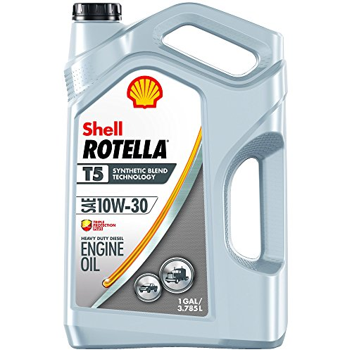 Shell ROTELLA T5 10W-30 Synthetic Blend, Heavy Duty Engine Diesel Oil, 1 Gallon ()