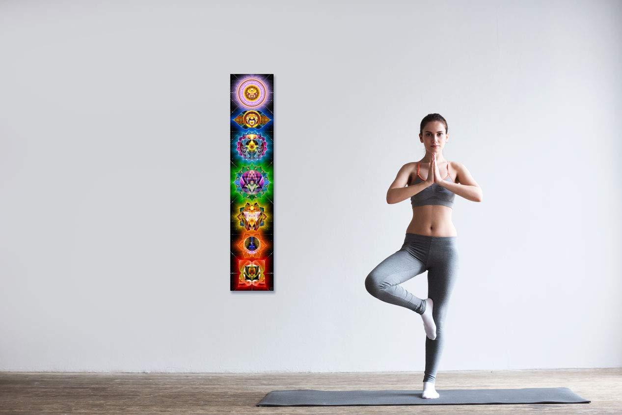 Meditation Yoga Chakras Wall Hanging Art Wall Hanging Tapestry Healing Spiritual Mindfulness Gift