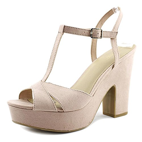 Nine West Womens Shanon Open Toe T-Strap Platform Pumps Blush d2nd2JyM
