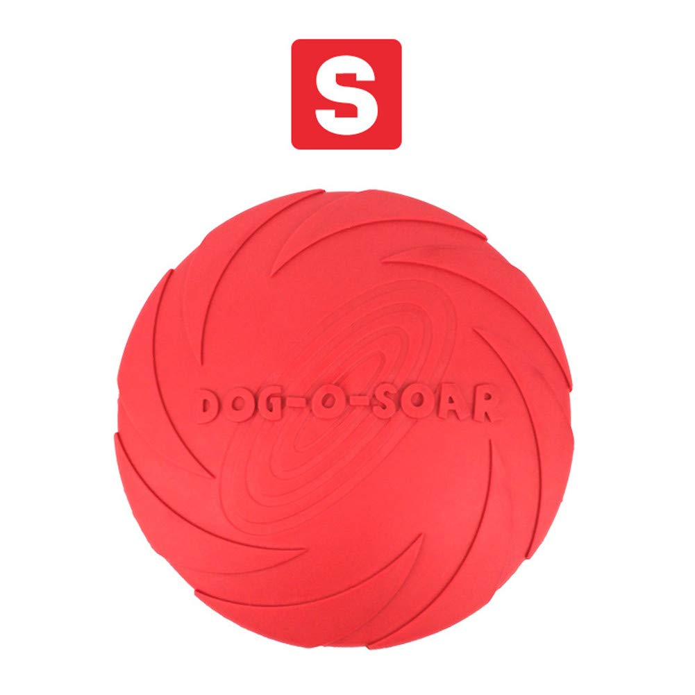 Red Small Red Small 2PCS Dog Frisbee Flying Disc Toy Flyer Dog Toy Soft Natural Rubber Interactive Fetch Play Toy Outdoor for Chew Safety