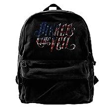 ATTENRY Canvas Backpacks Pierce The Veil USA Flag Logo Canvas Backpack Travel Rucksack Backpack Daypack Knapsack Laptop Shoulder Bag