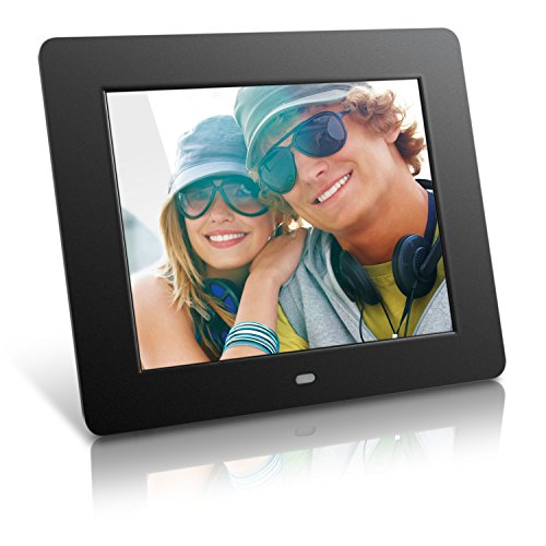 Aluratek (ADPF08SF) 8 Inch Digital Photo Frame – Black