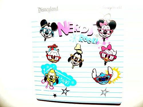 Disney Nerds Rock Heads 7 Piece Pin Set, Multi, Small