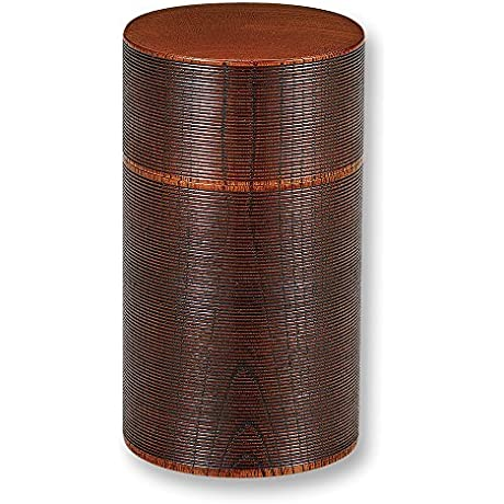 Lacquerware Wood 3 3inch Japanese Tea Caddy