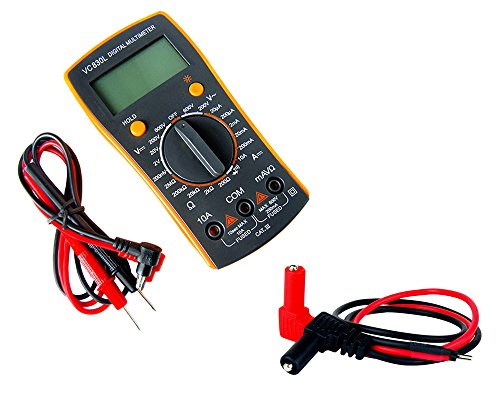 Digital Multi-Meter with Banana Plug to Pins Adapter Cord for Digital Volt Meter (Multimeter Adaptor)