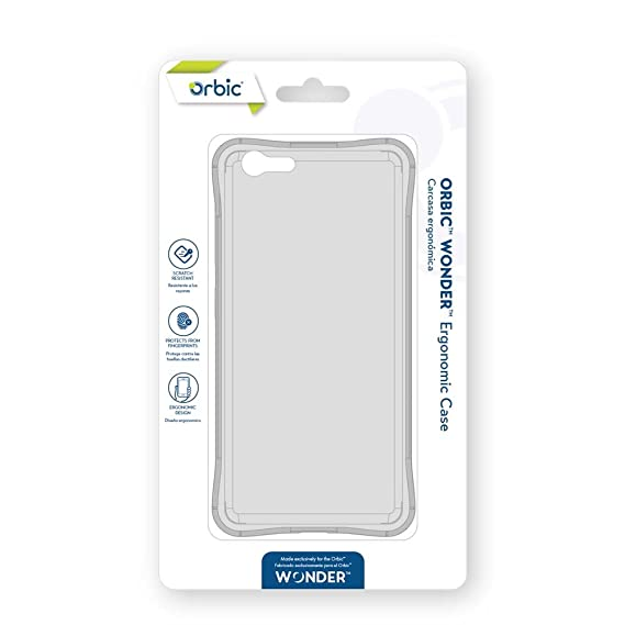 size 40 bb5e8 f1822 Amazon.com: Orbic Wonder Ergonomic Cell Phone Case - Clear: Cell ...