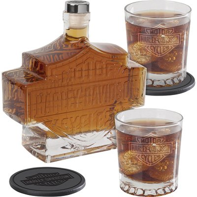 5-Pc. Harley-Davidson Bar & Shield Whiskey Decanter for sale  Delivered anywhere in USA