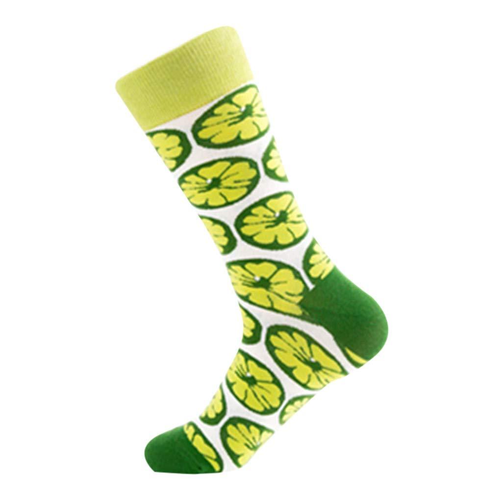 Fine Colorful Autumn Fashion So Socks In Tube Casual Taste Cotton Socks Middle High Tube Casual Men's Socks (Green)