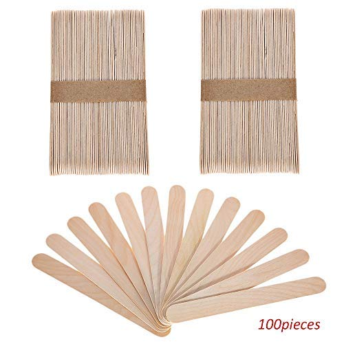 Sekass 100 Pack Wood Jumbo Craft Sticks Large 6