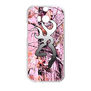 CMGOODS Retro Vintage Realtrees Real Tree Camo Browning Cutter Case Cover Sleeve Protector for Phone HTC One M8 (Laser Technology)
