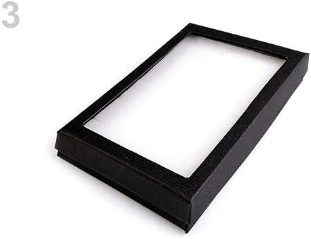 1pc Negro de la Joyería Caja de cartón Con Tapa Transparente 12x16cm Collar, Caja de Regalo, Regalo de Cumpleaños, Regalo de Agradecimiento, Cajas, Embalaje de Regalo: Amazon.es: Hogar