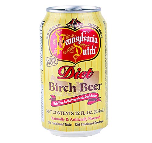 Pennsylvania Dutch Diet Birch Beer, 12 Ounce Cans (Case of ()