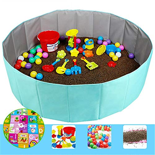 GYJ Beach Sand Toys Set Models Activity & Entertainment Guardrail Safety Fence Children Cassia Toys Marine Ball Suit Baby Play Sand Pool Tools Cloth Hourglass Home Playing by GYJ (Image #8)
