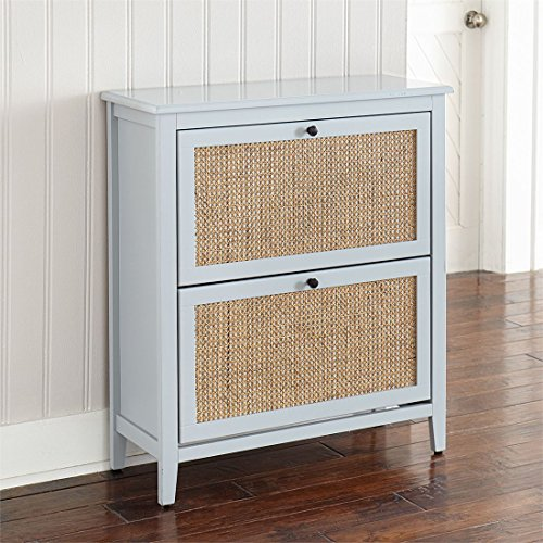 Adara Wood - Brylanehome Adara Mid-Century Shoe Cabinet (Stone Blue,0)