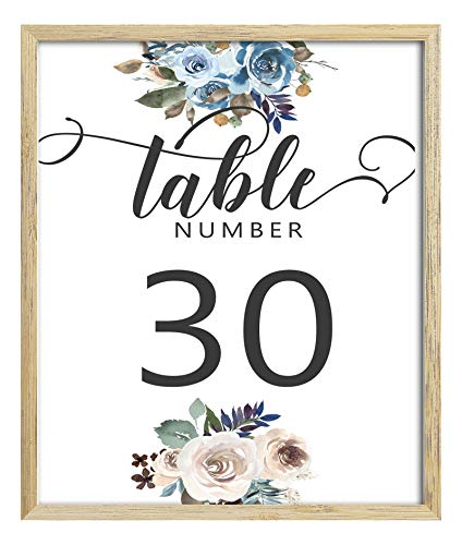 Darling Souvenir Elegant Chic Rose Floral Table Numbers Calligraphy Table Place Cards-5