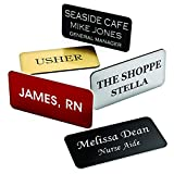 Custom Name Badges/Name Tags - 1.5'' x 3'' - Up to three lines of text - Pin Backing