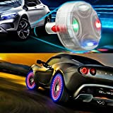 ByLucky - 4pcs Automobile tire lamp, Solar Wheel hub lamp; Waterproof Decorative LED Flash! Suitable for...