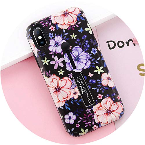 Nordstrom Flowers Ring - Fashion Flowers TPU Hide Ring Phone Case for iPhone 7 Matte Silicone Hard PC Back Cover Cases for iPhone 6 6s 7 8 Plus X,T6,for iPhone 6 6s