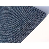 4X6 OVAL - DARK BLUE MULTI - Indoor/Outdoor Area Rug Carpet, Runners & Stair Treads with a Light Weight Latex Backing