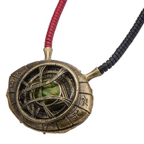 Marvel Doctor Strange Eye of Agamotto Replica Necklace | Officially Licensed Marvel Collectible Prop | Premium Quality Movie Replicas | Superhero Accessory Perfect For Cosplay, Costumes, Halloween -