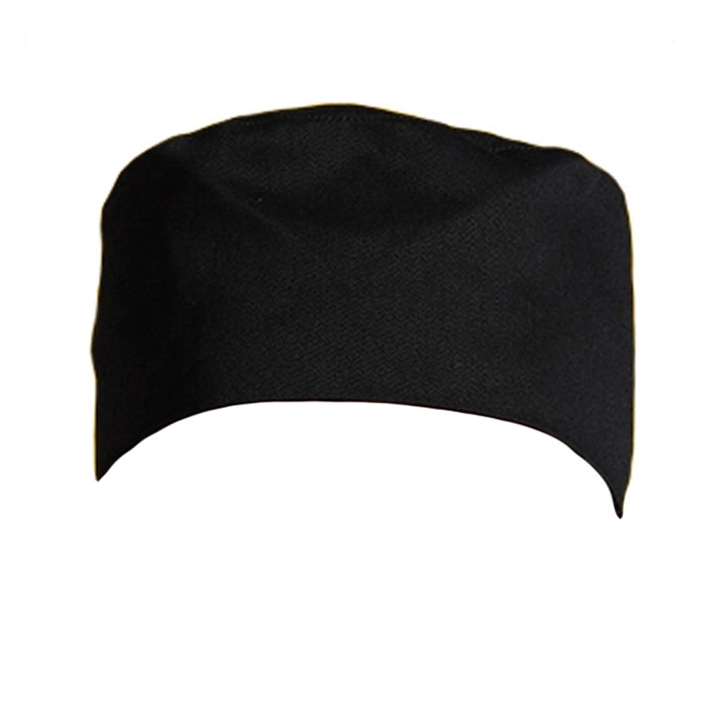 Premium Chef Hat Hats Breathable Skull Cap Chefwear for Cooking/Baking - Black Kylin Express