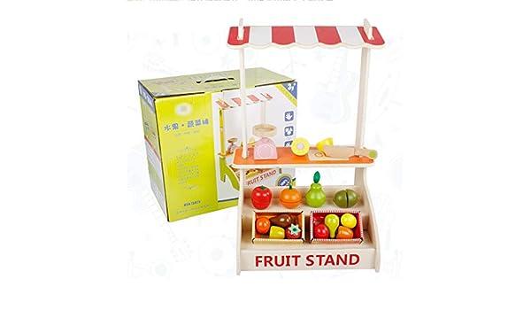 LLJXC Conjunto de Madera Fruta Cortada Juguete, de simulación de Juego de rol, Regalo for los niños niño Chico y Chica (Color : Multi-Colored): Amazon.es: Hogar