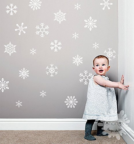 snowflake wall decal large snowflake sticker christmas wall decal christmas decorations kids - Christmas Wall Decal