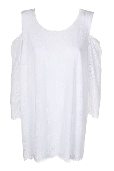 b3255791cd8de Alfani Womens Plus Lace Cold Shoulder Blouse at Amazon Women s Clothing  store