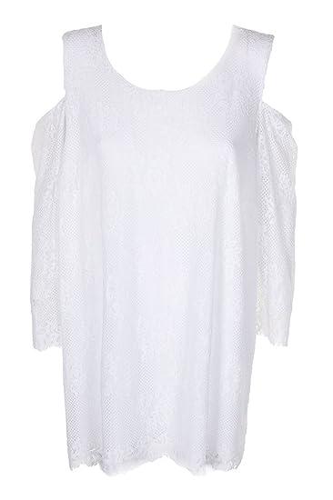 e315cca01c863 Alfani Womens Plus Lace Cold Shoulder Blouse at Amazon Women s ...