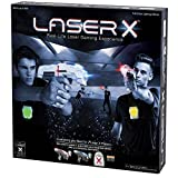 Laser X Gaming Experience 2 Player Set with Storage Bag and Batteries,Include 2 Blasters and 2 Receiver Vests with Full Color Lighting Effects, Interactive VOice Coach and Range of up to 200 Feet