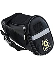 Zacro Water Resistant Bike Seat Saddle Storage Bag with Rear Light - Premium Quality Pannier Storage Bag for Bicycle