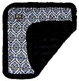 BESSIE AND BARNIE Versailles Blue/Black Puma Luxury Ultra Plush Faux Fur Pet, Dog, Cat, Puppy Super Soft Reversible Blanket (Multiple Sizes) Review