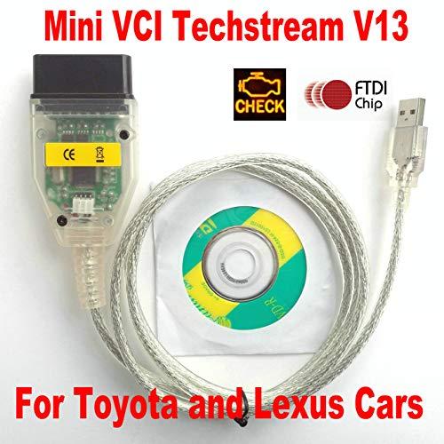 OTKEFDI Mini VCI,Mini VCI V13 OBDII Cable J2534 TIS