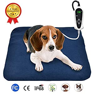 RIOGOO Pet Heating Pad, Electric Heating Pad for Dogs and Cats Indoor Warming Mat with Auto Power Off 26