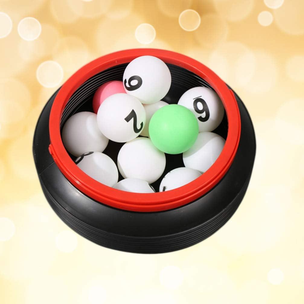 Amosfun 13 Piezas de Bolas de Bingo numeradas Bingo de Ping Pong de Recambio Pelotas de Tenis de Mesa para decoración de Fiesta de Juego con Cubo de Almacenamiento: Amazon.es: Juguetes y