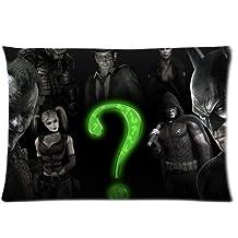 """Riddler Batman Arkham City Customize Pillow Cases 20""""x 30"""""""