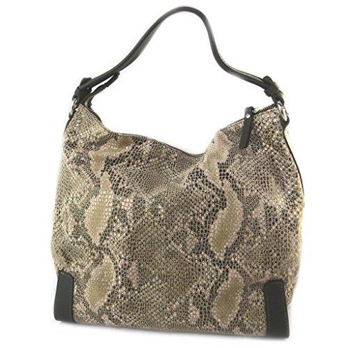 Bolsa de cuero 'Gianni Conti'camello (de pitón)- 30x30x15 cm.