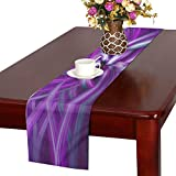 Abstract Futuristic Model Brilliant Color Violet Table Runner, Kitchen Dining Table Runner 16 X 72 Inch For Dinner Parties, Events, Decor
