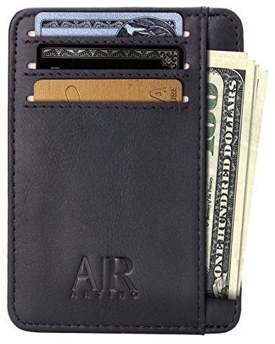 Front Pocket Wallets for Men - Minimalist Leather RFID by Artino Collection