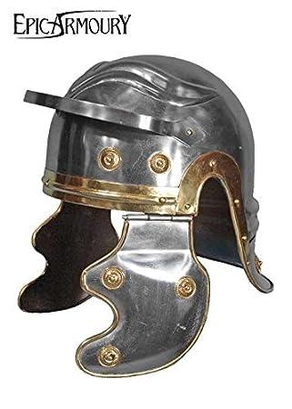 Romano legionär Casco de acero Deko Casco schaukampftauglich Ritter Casco LARP Vikingo