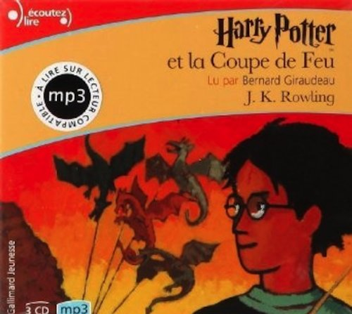 Harry Potter et la COupe de Feu (French edition of Harry Potter and the Goblet of FIre) - 2 MP3 compact discs
