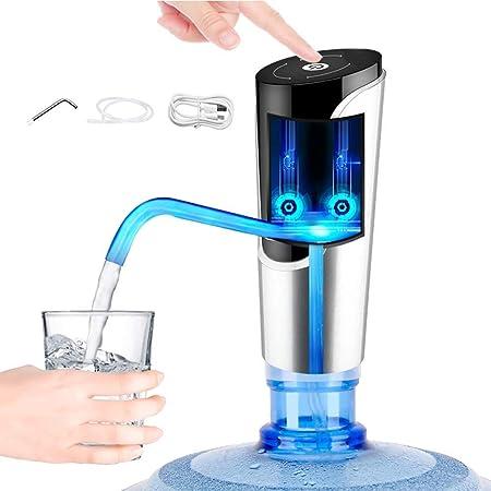 ZYLBDNB Bomba de Botella de Agua Carga USB portátil Inalámbrico Pantalla táctil eléctrica Dispensador de Agua Potable Botella de galón para Cocina casera Oficina Dispensador de Botella de Agua: Amazon.es: Hogar