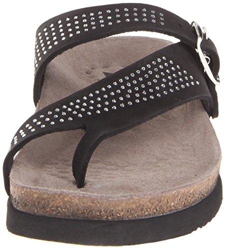 Women's Nubuck Mephisto Spark Helen Black Flat Sandal SxnqFPO7
