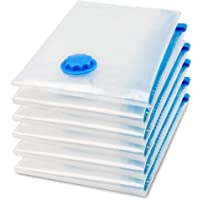 Vacuum Space Saver Reusable Sealer Storage Bags 50x70cm, With Suction Pump, Pack Of 6