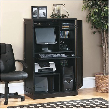 Armoire Hidden Laptop Computer Desk Cabinet Workstation Organizer Furniture Living Room Bedroom