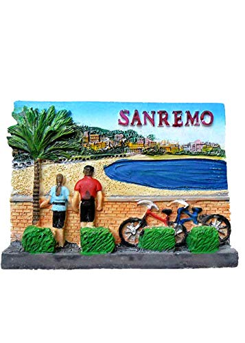 San Remo Italy 3D Refrigerator Magnet Souvenir Gift Collection Home and Kitchen Decoration Magnetic Sticker Fridge Magnet