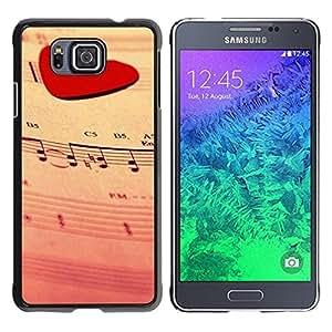 Be Good Phone Accessory // Dura Cáscara cubierta Protectora Caso Carcasa Funda de Protección para Samsung GALAXY ALPHA G850 // Love Music Heart