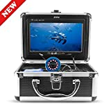 Erchang Underwater Fish Finder,Fishing Camera with 7 inch LCD HD 1000TV TFT Color Monitor + 15 Cable +12pcs IR Infrared LED + 4500mAh Rechargeable Battery for Ice/Lake/Boat Fishing